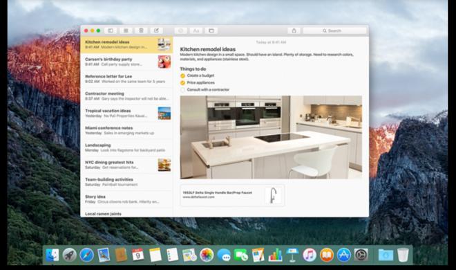 OS X 10.11.4 El Capitan: Apple fordert Evernote heraus
