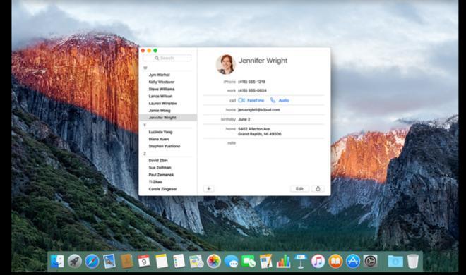OS X 10.11 El Capitan: Bug verhindert Synchronisation von Kontakten