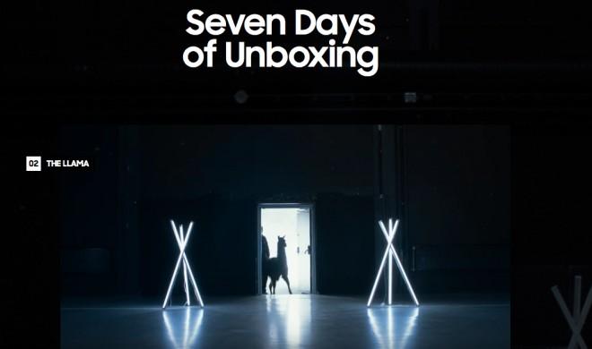 Lustige Werbekampagne von Samsung: Unboxing des neuen Galaxy mit einem Lama