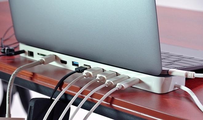HydraDock: 12 Anschlüsse für das MacBook