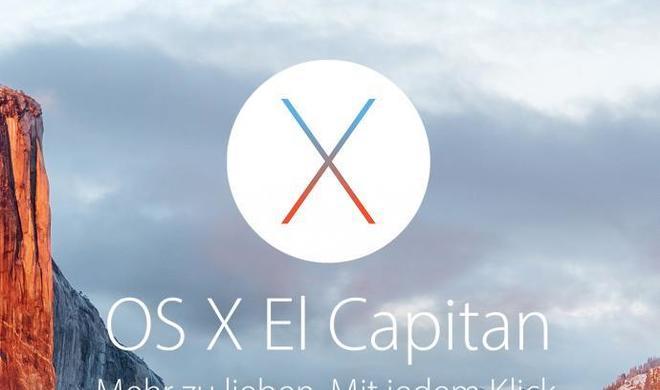 OS X 10.11.4 El Capitan Beta 5 für Entwickler und Betatester