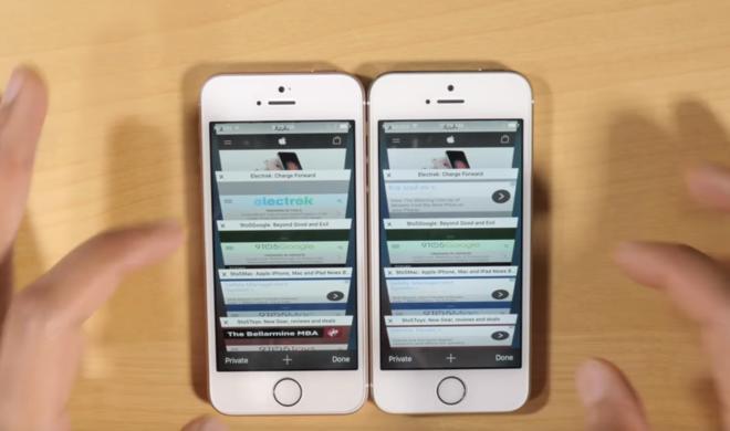 iPhone SE vs iPhone 5s: Mehr Arbeitsspeicher von enormen Vorteil