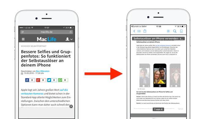 PDFs am iPhone speichern zum Offline lesen