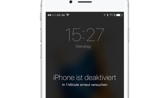 Falsches Passwort: Das kannst du tun, wenn das iPhone deaktiviert ist