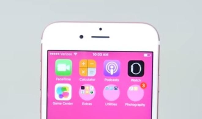 iOS 9.3.3 behebt Fehler mit runden Ordnersymbolen