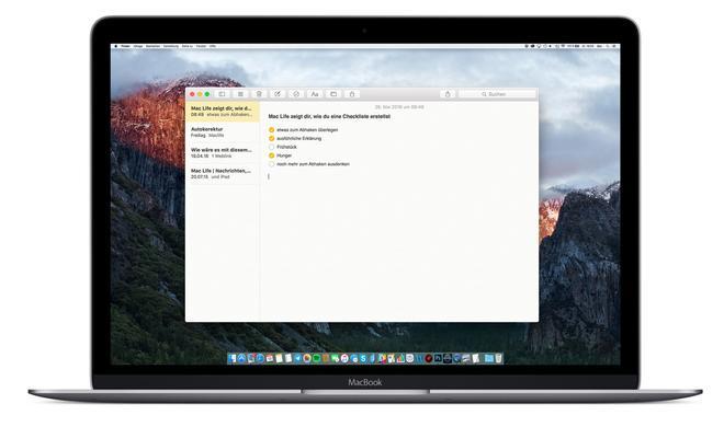 So erstellst du Checklisten mit der Notiz-App am Mac
