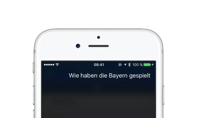 """""""Wie haben die Bayern gespielt?"""": So checkst du Sportergebnisse mit Siri"""