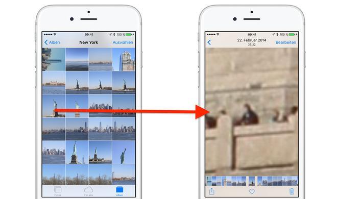 Bug in iOS 9.3.2 erlaubt unendliches Zoomen in der Fotos-App