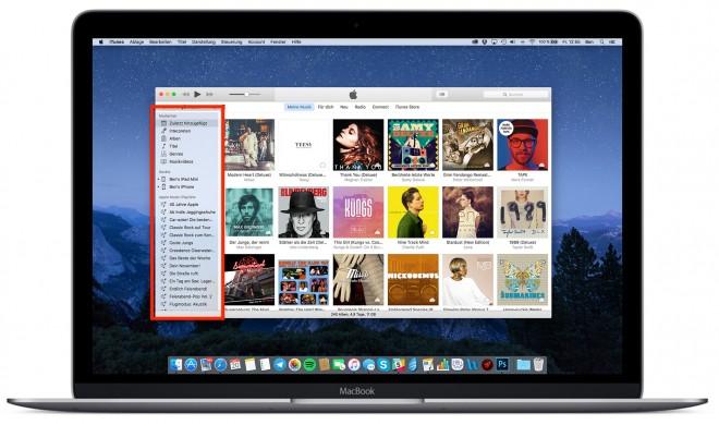So versteckst du die Sidebar in iTunes 12.4