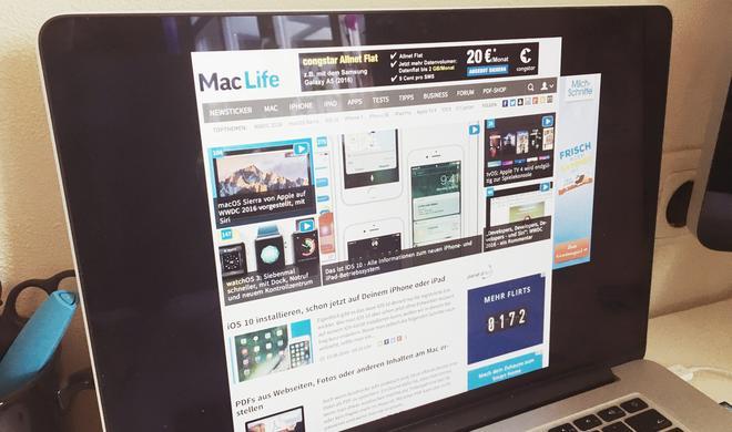 Eine Webseite als Mac Bildschirmschoner? So funktioniert's