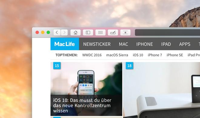 So passt du die Safari-Toolbar am Mac an