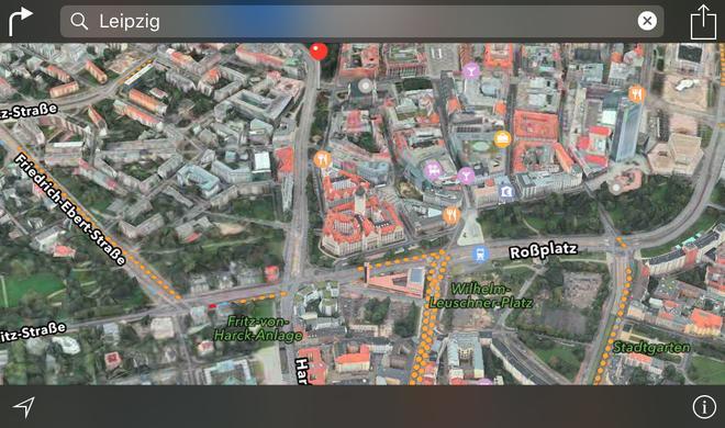 Riesige Flyover-Erweiterung für Apple Maps