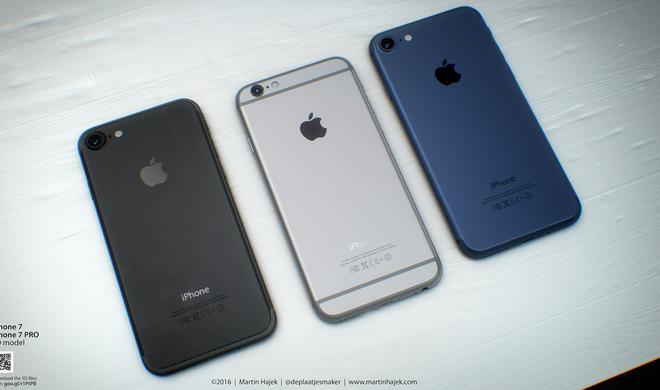 Foto zeigt alle Farben des iPhone 7