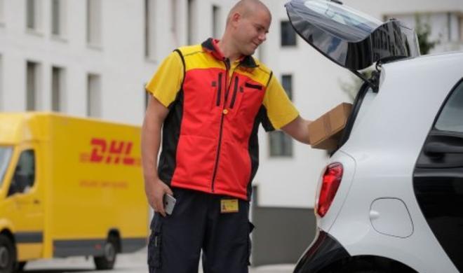 Smart-Kofferraum wird zum Postfach für DHL-Boten