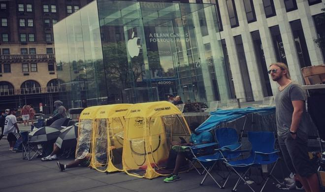 Erste Camper sind da: Nachfrage nach iPhone 7 immens