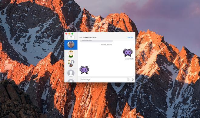 macOS Sierra: So nutzen Sie riesige Emoji in der Nachrichten-App