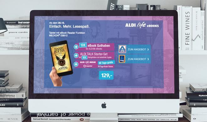 Überraschung: Aldi startet eigenes E-Book-Angebot noch im Oktober
