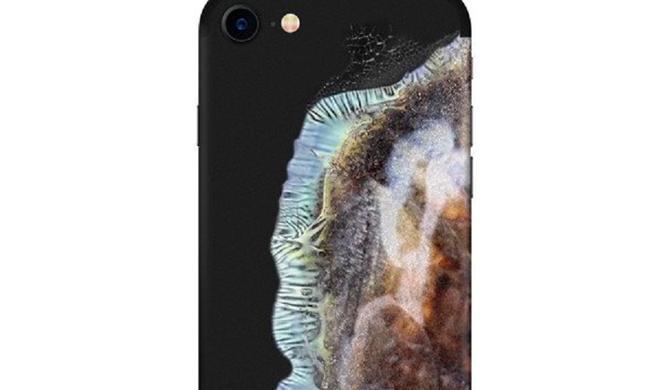 iPhone-Skin sieht wie explodiertes Galaxy Note 7 aus