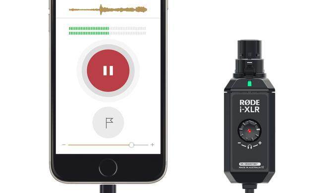 Dieser Lightning-Adapter verbindet ein professionelles Mikrofon mit iOS-Geräten