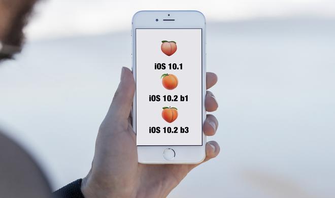 iOS 10.2 Beta 3: Pfirsich lässt sich wieder als Hintern nutzen