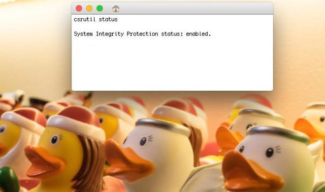 Systemintegritätsschutz bei einigen MacBook Pro ab Werk ausgeschaltet