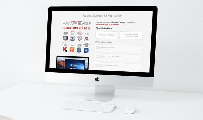 Parallels Desktop: Derzeit im Bundle mit vielen Mac-Apps - 90% Rabatt