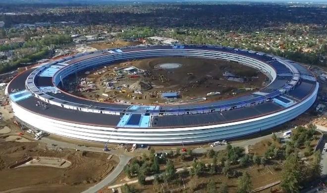 Drohnenvideo: Bauarbeiten am Apple Campus 2 fast beendet