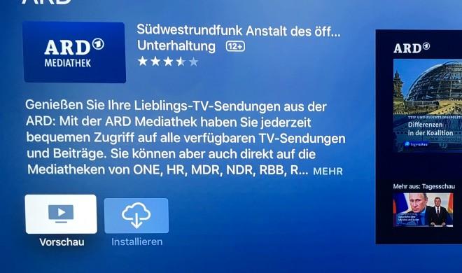 Halbe Sachen: ARD-Mediathek jetzt für Apple TV 4