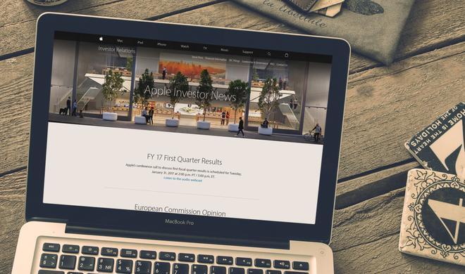 Quartalsergebnisse werden von Apple am Monatsende bekanntgegeben