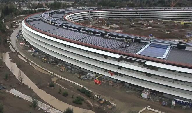 Drohnenüberflug: Apple Campus 2 langsam bereit zur Eröffnung