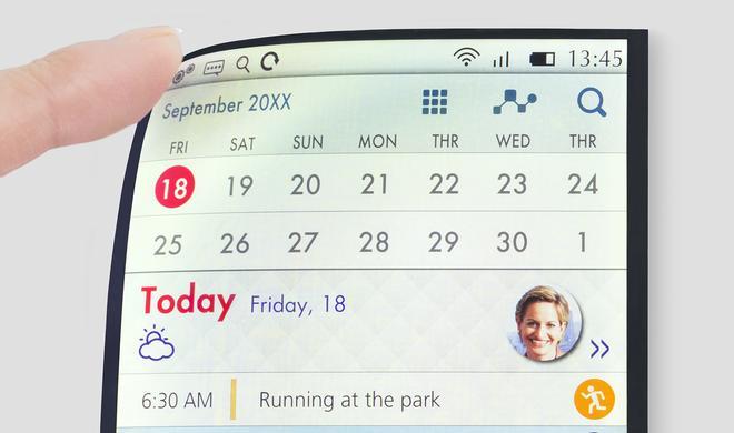 Flexible HD-LCD-Displays vorgestellt - auch für kommende iPhones