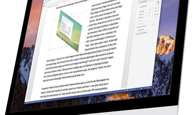 Textverarbeitung am Mac: Word, Pages und die Alternativen im Vergleich