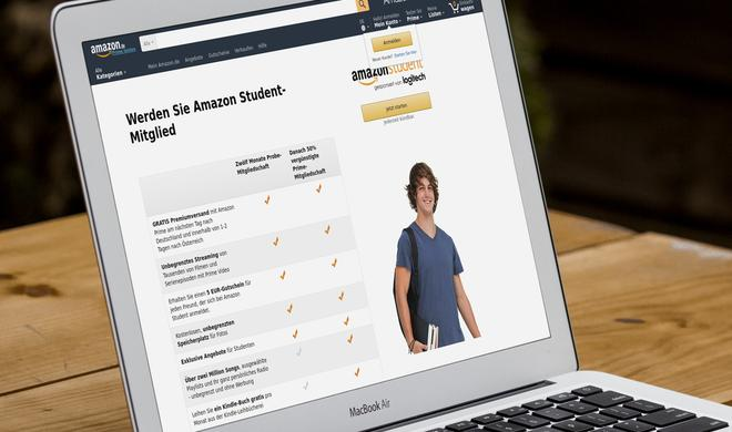 Amazon liebt Studenten: 15 Euro Einkaufsgutschein für Gratis-Prime-Mitgliedschaft