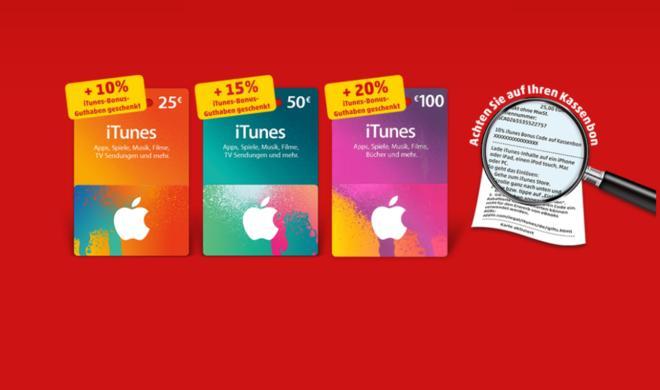 Hier gibt es Gratisbonusguthaben auf iTunes-Karten