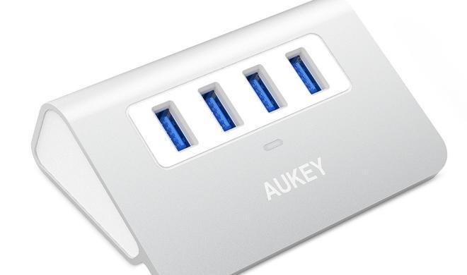 Passt prima zum iMac: Bei Aukey-USB-Hub sparen