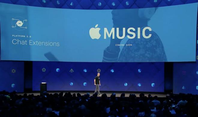 Facebook kündigt Integration von Apple Music in den Messenger an