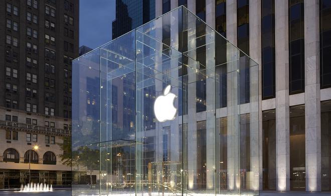 Ikonischer Apple Store in New York derzeit ohne Glaswürfel