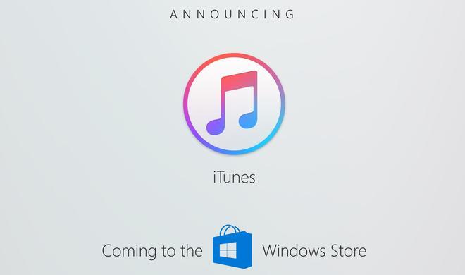 iTunes kommt in den App Store - den Windows (App) Store