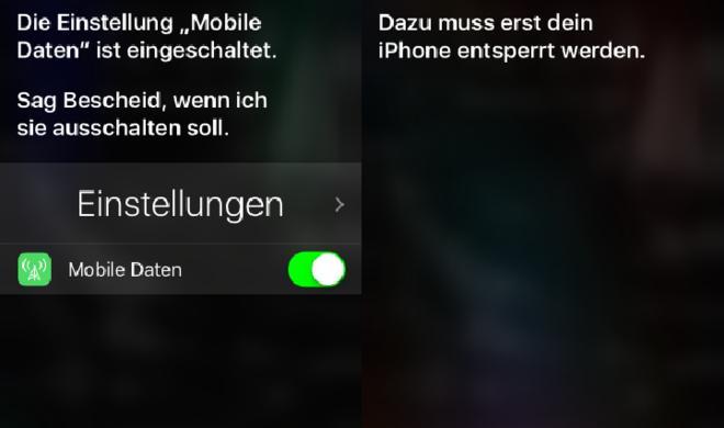 Bug: Siri kann mobile Daten bei gesperrtem iPhone ausschalten
