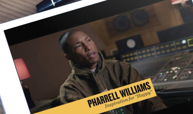"""""""Happy"""" von Pharrell Williams: GarageBand-Mitmachworkshop als iBook"""