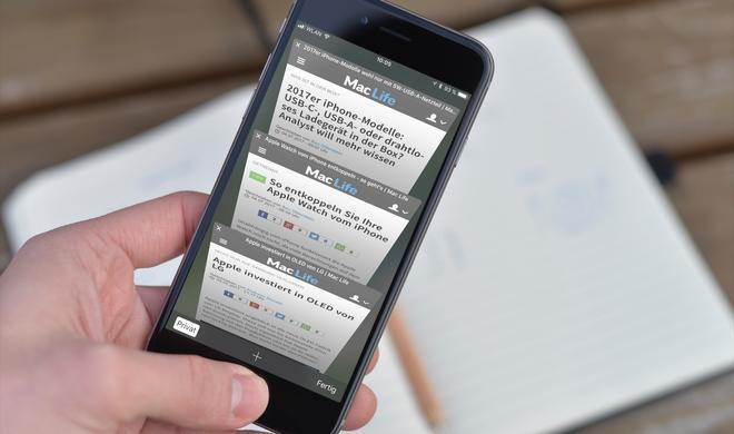 So blenden Sie die Safari-Tableiste am iPhone und iPad aus