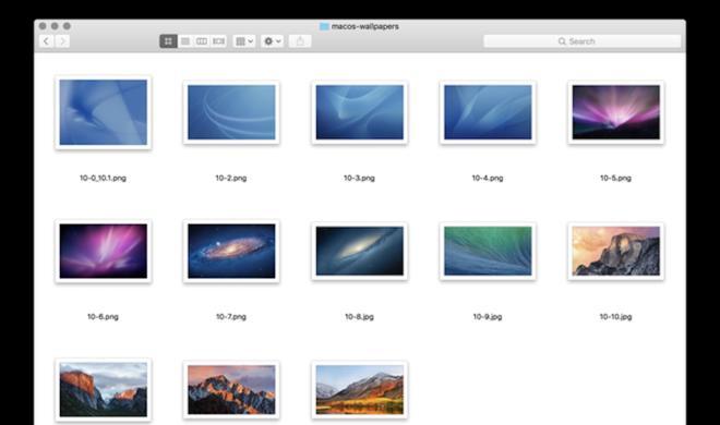 Von Mac OS X 10.0 bis macOS 10.13: Alle Standard-Wallpaper in 5K verfügbar