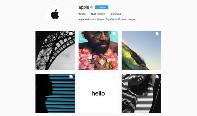 Endlich auf Instagram: Apple seit heute mit eigenem Account
