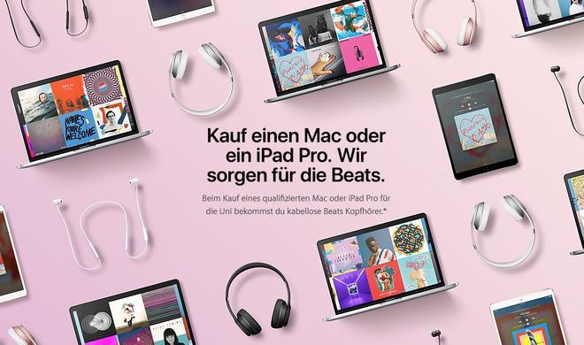 Apple Back to School 2017 auch in Deutschland verfügbar