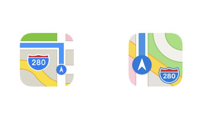 iOS 11 Beta: Icon für Karten-App jetzt mit Apple-Ufo