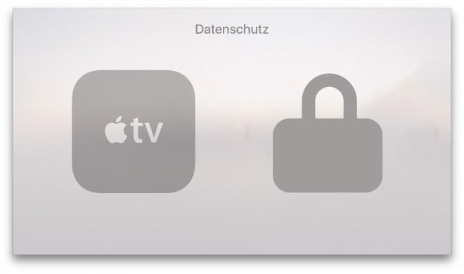 So passen Sie die Datenschutz-Einstellungen auf Apple TV an