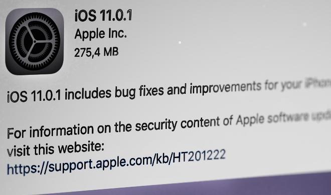Apple stellt iOS 11.0.1 zur Verfügung