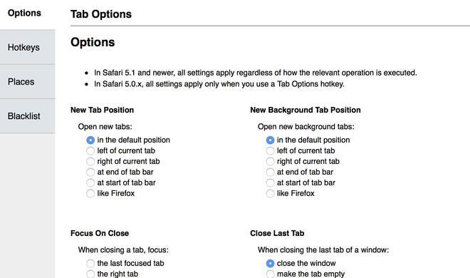 3 empfehlenswerte Browser-Erweiterungen: Tab Options, Ulla und Safari Keyword Search