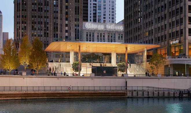 Apple eröffnet superschicken Apple Store in Chicago