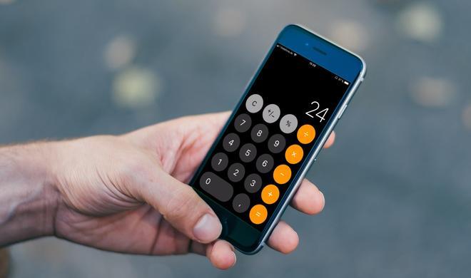 iOS 11 Taschenrechner kommt nicht hinterher